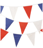 RED WHITE & BLUE BUNTING - Red White And Blue