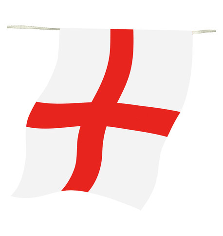 England FLAG OUTDOOR BUNTING Red And White