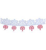 PAPER BOUQUET GARLAND - White