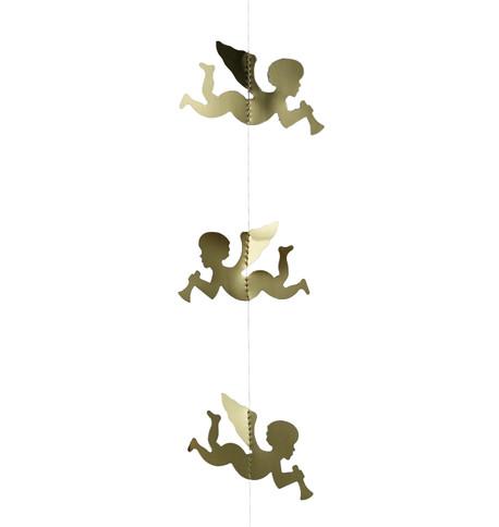 FOIL CHERUB GARLAND - GOLD Gold