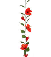 HIBISCUS GARLAND - LARGE - RED - Red
