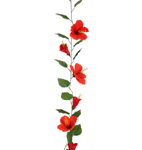 HIBISCUS GARLAND - LARGE - RED Red