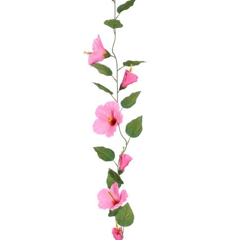 HIBISCUS GARLAND - LARGE - PINK Pink