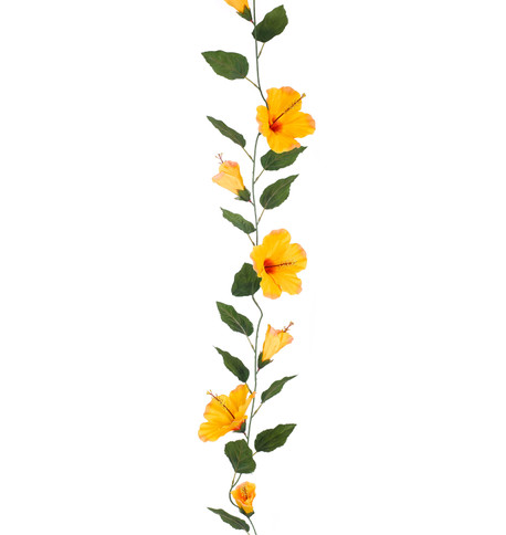 HIBISCUS GARLAND - LARGE - ORANGE Orange