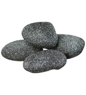 BLACK GLITTERED ROCKS - Black