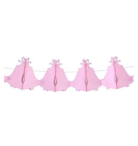 PAPER WEDDING BELL GARLAND - PINK Pink