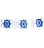 PAPER SHIPS WHEEL GARLAND - Blue
