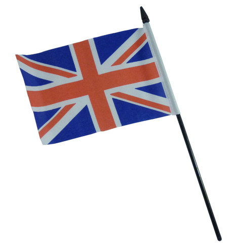 UNION JACK HAND FLAG - SMALL Red White And Blue