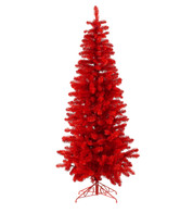 RED SLIMLINE PINE TREE - Red