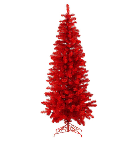 RED SLIMLINE PINE TREE Red