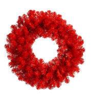 RED PINE WREATH - Red