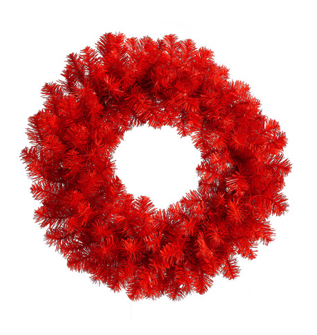 RED PINE WREATH Red