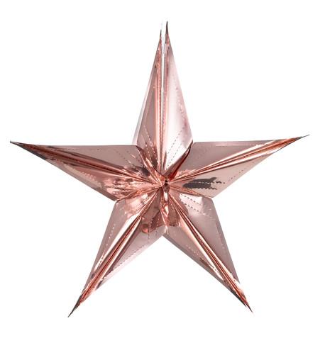 FOIL STARS - FOLD OUT Blush Pink