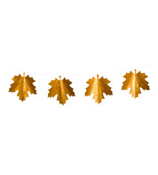 MAPLE LEAF FOIL BUNTING - Copper