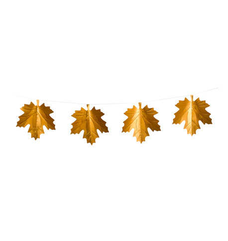 MAPLE LEAF FOIL BUNTING Copper