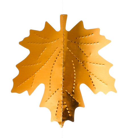 MAPLE LEAF FOIL GARLAND Copper