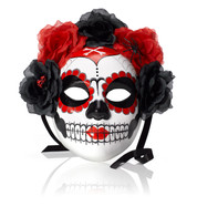 PAINTED SKULL MASK - Red