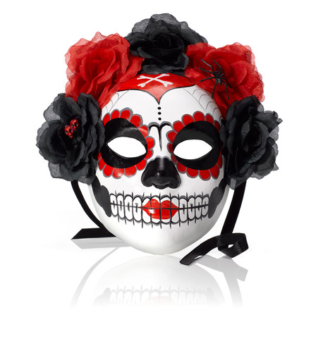 PAINTED SKULL MASK Red