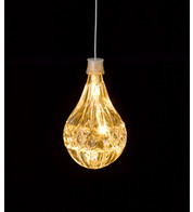 LED CRYSTAL LIGHT - BULB SHAPE - Warm White