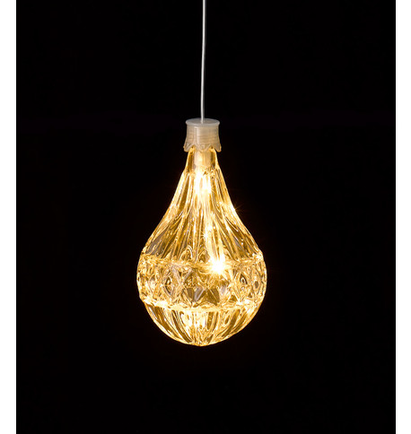 LED CRYSTAL LIGHT - BULB SHAPE Warm White 2