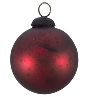 RED GLASS OMBRE BAUBLES - Red