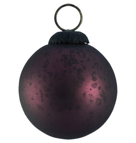 PURPLE GLASS OMBRE BAUBLES Purple