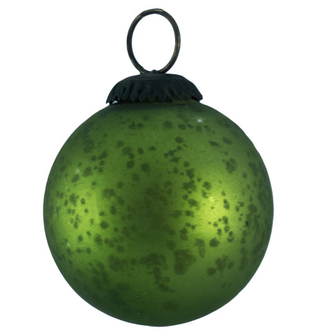 GREEN GLASS OMBRE BAUBLES Green