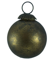 BRASS DISTRESSED GLASS BAUBLES - Gold