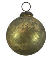 GOLD DISTRESSED GLASS BAUBLES - Gold