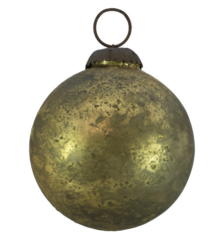 GOLD DISTRESSED GLASS BAUBLES Gold