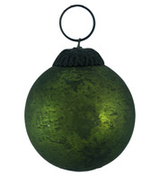 GREEN DISTRESSED GLASS BAUBLES - Green