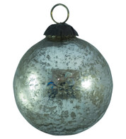 SILVER SPECKLED GLASS BAUBLES - Silver