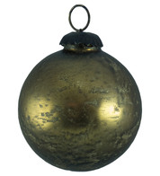 BRASS SPECKLED GLASS BAUBLE - Gold