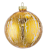 OIL  GLAZE GOLD GLASS BAUBLES - Gold