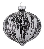 OIL GLAZE BLACK GLASS ONION - Black
