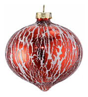 OIL GLAZE RED GLASS ONION - Red