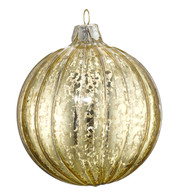 GOLD MERCURY GLASS BAUBLES - Gold