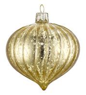 GOLD MERCURY GLASS ONION - Gold