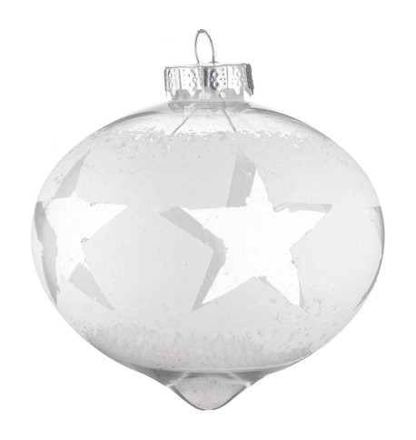DISTRESSED GLASS STAR ONION White