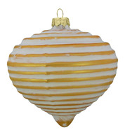 GOLD RIBBED GLASS ONION - Gold
