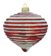 RED GLASS RIBBED ONION - Red