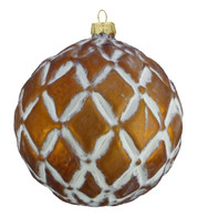 COPPER GLASS DIAMOND BAUBLE - Copper