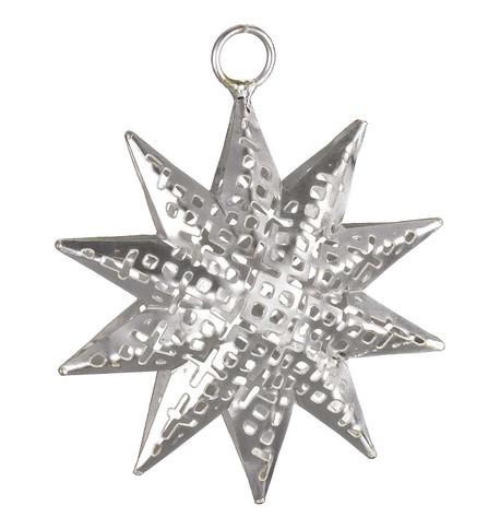 PIERCED METAL STARS - SILVER Silver
