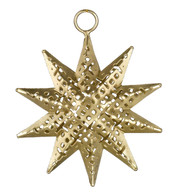 PIERCED METAL STARS - GOLD - Gold