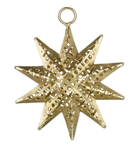 PIERCED METAL STARS - GOLD Gold