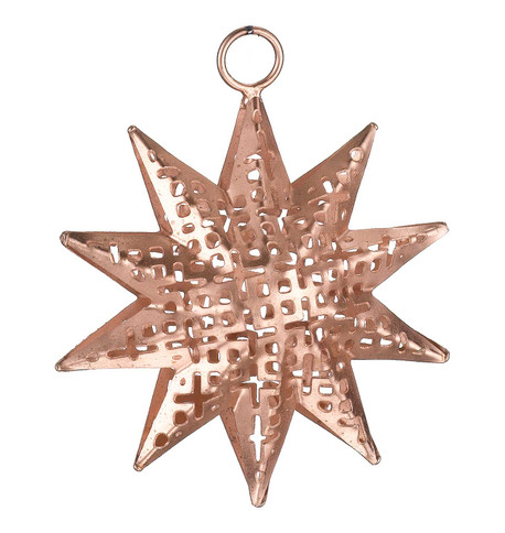 PIERCED METAL STARS - COPPER Copper