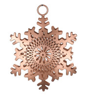 PIERCED METAL SNOWFLAKES - COPPER - Copper