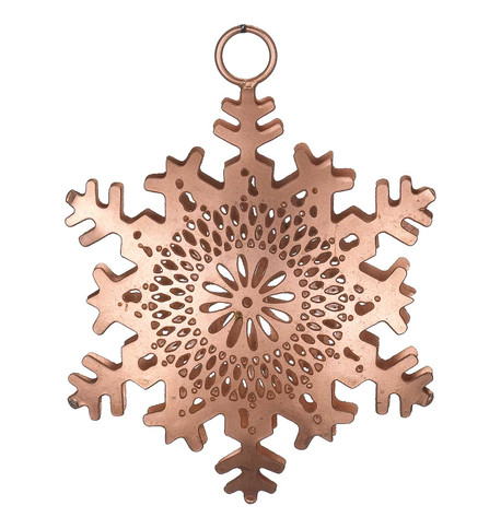 PIERCED METAL SNOWFLAKES - COPPER Copper