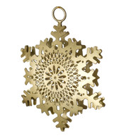 PIERCED METAL SNOWFLAKES - GOLD - Gold