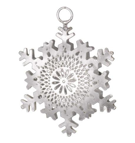 PIERCED METAL SNOWFLAKES - SILVER Silver